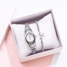 HL Женские часы с браслетом Бабочка серебро 3200/W...