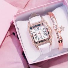 HL Женские часы с браслетом белые  3203/SB-035...