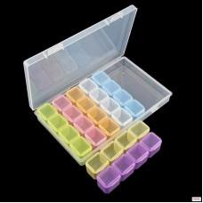 CToday Пластиковый контейнер на 28 ячеек цветной 2...