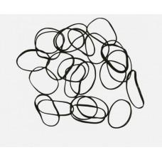 DW Резинки для волос черн. силикон, mini (100шт.) ...