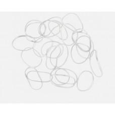 DW Резинки для волос белые силикон, mini (100шт.) ...