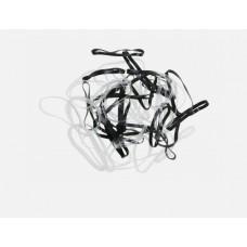 DW Резинки для волос черн/бел силикон, midi (50шт....