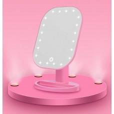 A Зеркало с сенсор. экраном розовое 20 LED PINK...