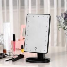A Зеркало с сенсор. экраном 22 светодиода черное S...
