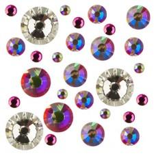 IRISK Стразы микс цветов и размеров в баночке Микс...