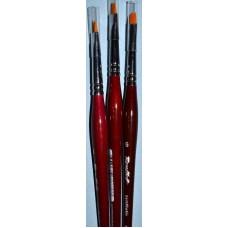 РУБЛЁФФ Кисть рыжая синтетика/наклонная 6/ручка фи...