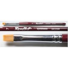 РУБЛЁФФ Кисть рыжая синтетика/плоская 7/ручка фигу...