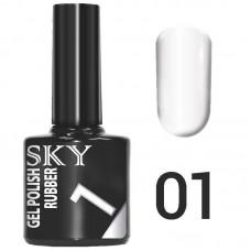 SKY Гель-лак №001 Белый 10 мл....